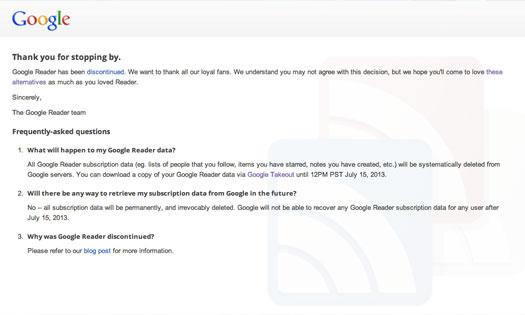 Google Reader ist tot! Welche Alternativen soll man jetzt nutzen?